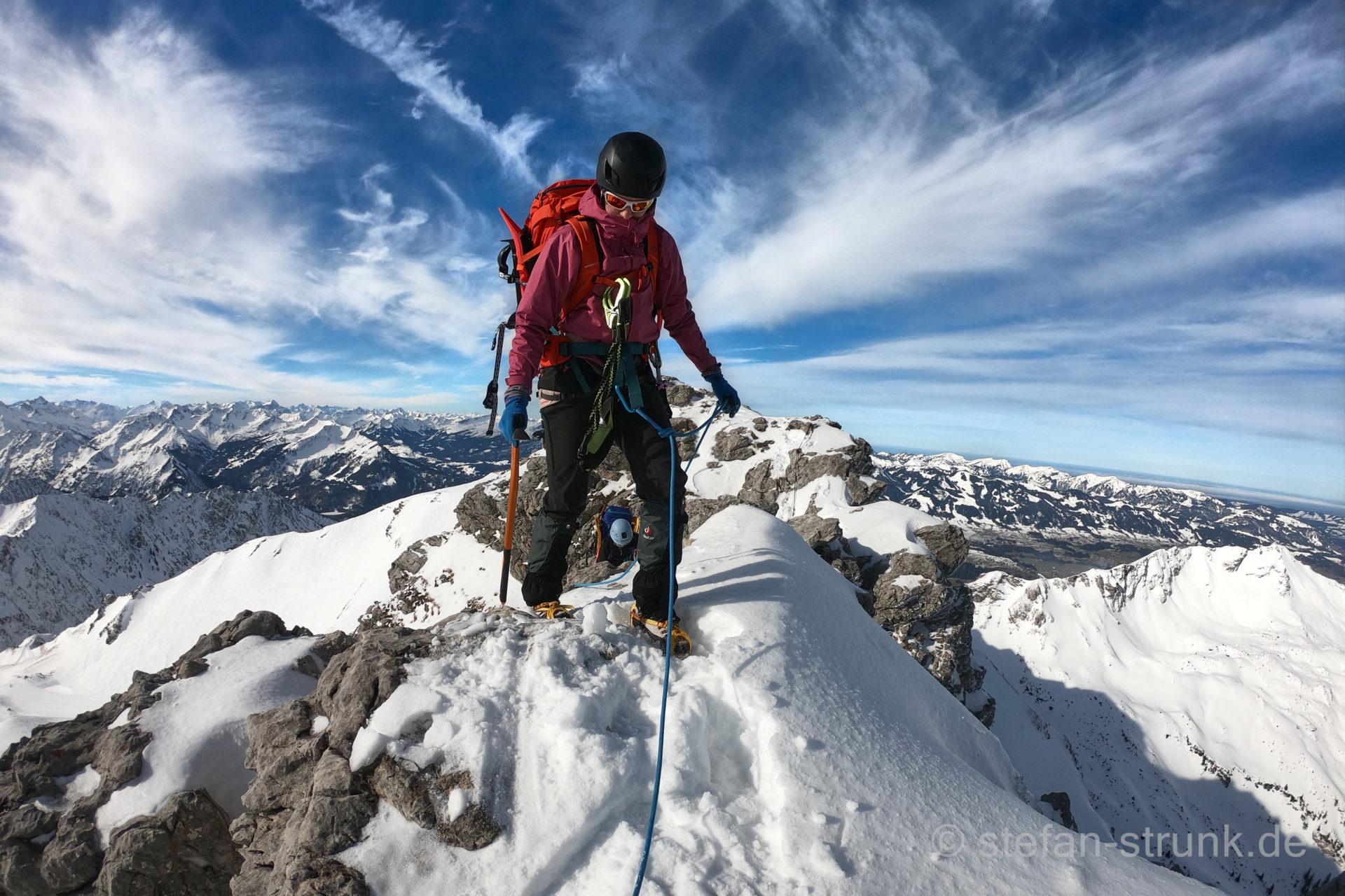 Wintertour Hindelanger Klettersteig